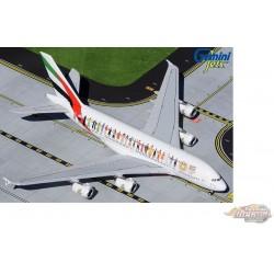 """Emirates Airbus A380 A6-EVB """"Year of Tolerance"""" - Gemini 1/400 GJUAE1959 - Passion Diecast"""