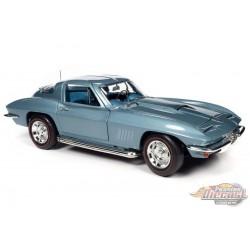 1967 Chevrolet Corvette 427 - Blue - 1/18 Auto World  - AMM1241  - Passion Diecast