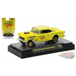 Mellow Yellow - 1955 Chevrolet Bel Air Gasser - M2  1:64  - 52500 GS01 B - Passion Diecast