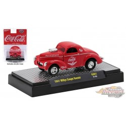 Coca-Cola - 1941 Willys Coupe Gasser - M2  1:64  - 52500 GS01 A - Passion Diecast