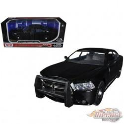 2011 Dodge Charger Pursuit  No Lite Bar  Black - Motormax 1/24 - 76953 - Passion Diecast