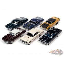 Muscle Cars USA 2020 Release 24 Version B (6 cars set ) Johnny Lightning 1:64 - JLMC024 B - Passion Diecast