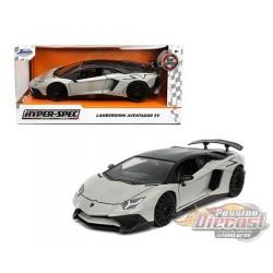 """Lamborghini Aventador SV Grey  """"Hyper-Spec"""" - Jada 1/24 - 32713  - Passion Diecast"""
