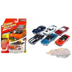 Muscle Cars USA 2018 Release 4 Version A  (6 cars set ) Johnny Lightning 1:64 - JLMC016 A  Passion Diecast
