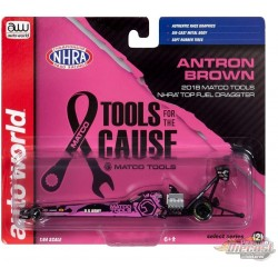 Matco Tools BCA Top Fuel Dragster NHRA Antron Brown 2018 - Auto World 1:64  - AW64005 C -  Passion Diecast