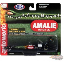Amalie Oil Top Fuel Dragster NHRA - Terry McMillen 2018 - Auto World 1:64  - AW64005 A -  Passion Diecast