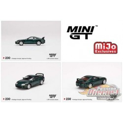 Toyota Supra Dark Green Pearl Metallic - MINI GT 1:64 - Mijo Exclusive - MGT00230