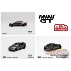 LB WORKS BMW M4 Purple-Green Metallic -  MINI GT 1:64 - Mijo Exclusive - MGT00228