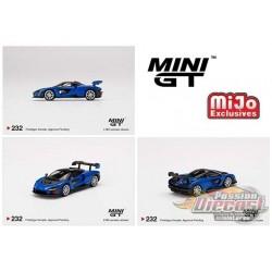 McLaren Senna Antares Blue - MINI GT 1:64 - Mijo Exclusive - MGT00232