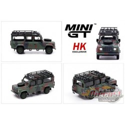 Land Rover Defender 110 Military Camouflage - Mini GT - HK Exclusives 1/64 - MGT00237 R