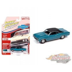 1967 Chevrolet Chevelle SS   Emerald Turquoise - Muscle Cars USA 2021 Release 1 - Johnny Lightning 1:64 - JLSP138 A