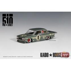 KaidoHouse Datsun 510 Pro Street OG Green - Mini GT - HK Exclusives 1/64 - KHMG001 - Passion Diecast