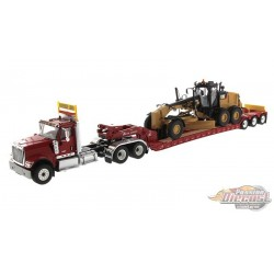 International HX520 Tractor with XL 120 HDG Lowboy Trailer and Cat 12M3 Motor Grader - Diecast Master  1/50 -  85598