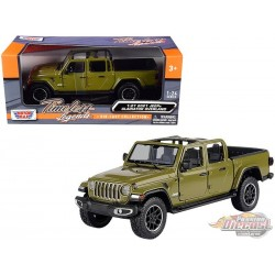 2021 Jeep Gladiator Overland Open Top Green - Motormax 1/24 - 79367 GR Passion Diecast