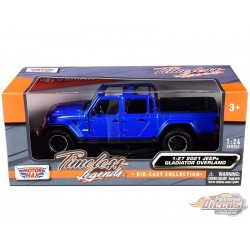 2021 Jeep Gladiator Overland Open Top Blue - Motormax 1/24 - 79367 BL  - Passion Diecast