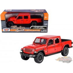 2021 Jeep Gladiator Overland Hard Top Red - Motormax 1/24 - 79367 RD  - Passion Diecast