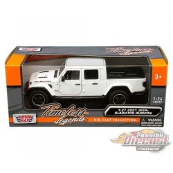 2021 Jeep Gladiator Overland Hard Top White - Motormax 1/24 - 79367 WH - Passion Diecast