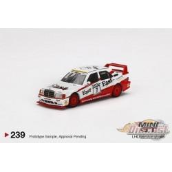 """Mercedes-Benz 190E 2.5-16 Evolution II No7 """"East"""" 1991 DTM -  MINI GT 1:64  - MGT00239  - Passion Diecast"""