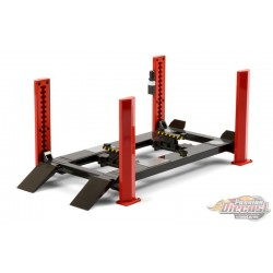 Four-Post Lift  in Red with Dark Gray Ramps -  Greenlight -  1/18 - 13592 - Passion Diecast