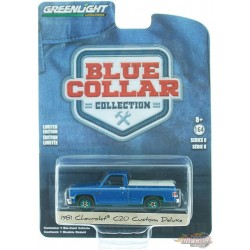 1981 Chevrolet Custom Deluxe 20  poly bleu clair- Blue Collar Collection  8 - GREENMACHINE 1/64 - 35180 DGR Passion Diecast