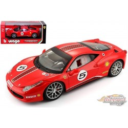 Ferrari 458 Challenge No.5 - RED - Bburago 1/24 - 26302
