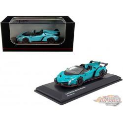 Lamborghini Veneno Roadster - Blue - Kyosho 1:64 - KS07040A4