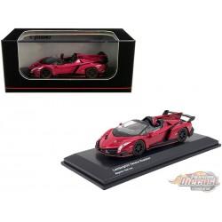 Lamborghini Veneno Roadster - Magenta Red - Kyosho 1:64 - KS07040A3