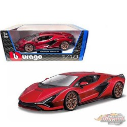 Lamborghini Sián FKP 37 Red  - Burago 1:/18 - 18-11046 RD - Passion Diecast