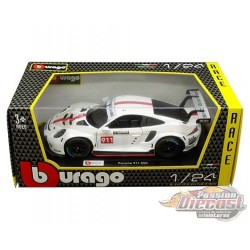 Porsche 911 RSR White - Bburago 1-24 - 28013 WH - Passion Diecast
