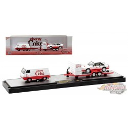 Cherry Coke - 1965 Ford Econoline Delivery Van and 1990 Ford Mustang GT -  M2 1/64 - 56000 TW09 C