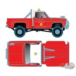 1976 Chevrolet Scottsdale 4x4 Fire Truck - Chief High Flame - M2 Machine Hobby Exclusive 1:64 - 31500-MJS35 - Passion Diecast