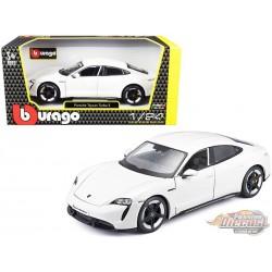 Porsche Taycan White - Bburago 1-24 - 18-21098 WH