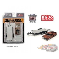 Haul N Go Trailer Set 2 with Rusted Truck Body  -  American Diorama 1-64 - 38378 MJ- Passion Diecast
