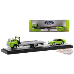 1990 Ford C-8000 Rollback Truck and 1988 Ford Mustang GT Custom -  M2 1/64  36000-45 C Passion Diecast