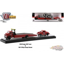 Comp Cams - 1958 Dodge COE Ramp Truck and 1941 Willys Coupe Gasser  - M2 1/64  36000-45 A  - Passion Diecast