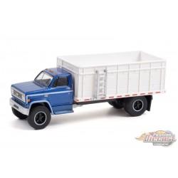 1980 Chevrolet C-70 Grain Truck - Blue Poly Cab / White Bed - SD Trucks 13 - Greenlight  1/64 - 45130 C
