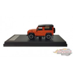 2018 Land Rover Defender 90 works V8 70th Edition Diecast model car - Orange - LCD Models 1:64 - 64016 OR - Passion Diecast