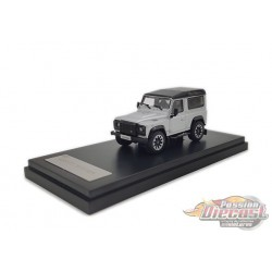 2018 Land Rover Defender 90 works V8 70th Edition Diecast model car - Silver - LCD Models 1:64 - 64016 SIL- Passion Diecast