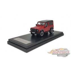 2018 Land Rover Defender 90 works V8 70th Edition Diecast model car - Red - LCD Models 1:64 - 64016 RD - Passion Diecast