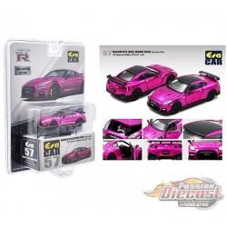 Nissan GT-R R35 Nismo 2020 Chrome Pink - Limited 960 Pcs - Era Car  1/64 - NS21GTRRF57 -  Passion Diecast