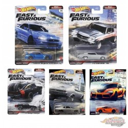 Hot Wheels 1:64  Fast & Furious 2021 Fast Superstars M Case  -  Assortment -  Set Of 5 Cars - GBW75-956M