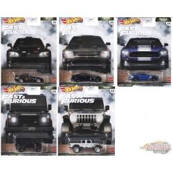 Hot Wheels 1:64  Fast & Furious 2021 Furious Fleet Caisse N Case  -  Assortment -  Set Of 5 Cars - GBW75-956M