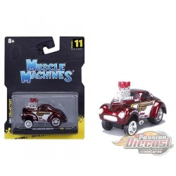 1941 Willys Coupe Gasser - Maisto  Muscle Machines 1/64 - 15549 RD - Passion Diecast