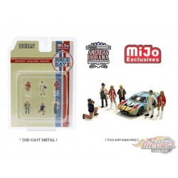 Race Day 2 - set Figurine 6 pieces Diecast  -  American Diorama 1-64 - 76472 MJ - Passion Diecast