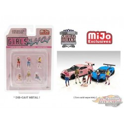 Figure Girls Night Out - set Figurine 6 pieces Diecast  -  American Diorama 1-64 - 76477 MJ - Passion Diecast