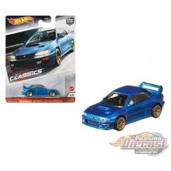 Modern Classic Subaru Impreza WRX STi B22 Blue - Hot Wheels 1:64 - GJP96 - Passion Diecast