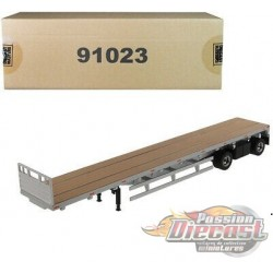 53' Flat bed trailer - Silver -  Diecast Master  1/50 - 91023