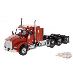 """Kenworth T880 SBFA 40"""" Sleeper Tridem Tractor in Speed Orange - Cab Only  -  Diecast Master  1/50 -  71057"""