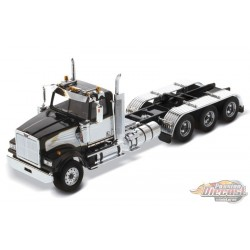 Western Star 4900 SF Day Cab Tridem Tractor in Black and White - Cab Only - Diecast Master  1/50 - 71066