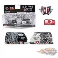 """Mijo Exclusive 1960 Volkswagen Delivery Van Custom 2021 """" Dia De Los Muertos """" - M2 machine - 1/64  38100-MJS05"""